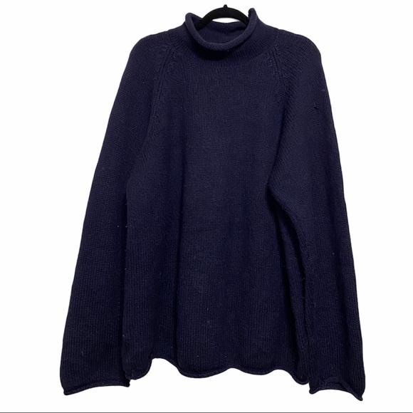J. Crew Navy Blue 100% Wool Sweater
